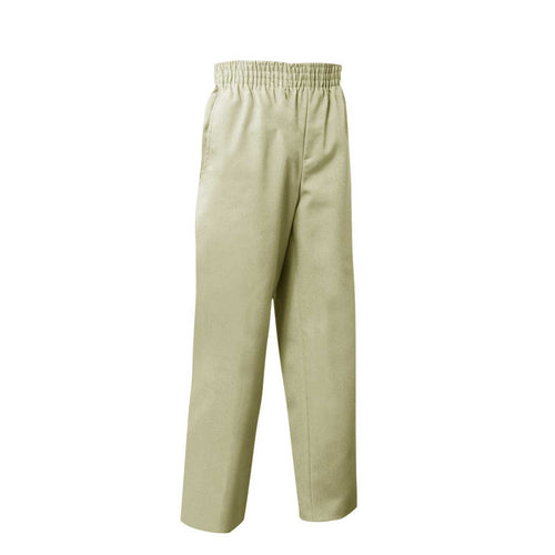 FULL ELASTIC PULL ON PANT KHAKI