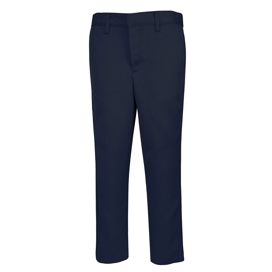 NAVY FLAT FRONT TWILL PANT