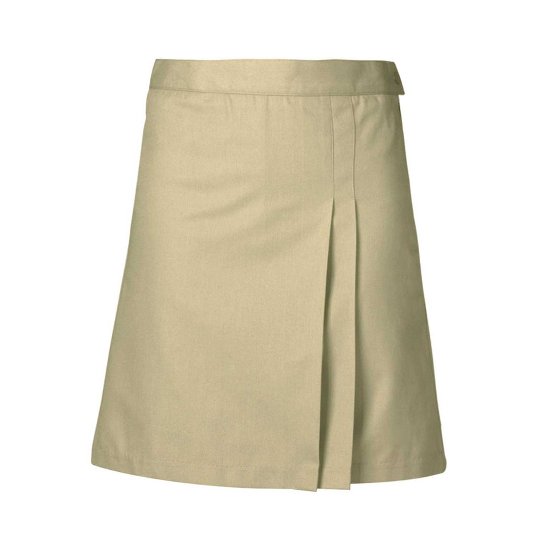 DOUBLE PLEAT CLASSROOM SKORT-KHAKI
