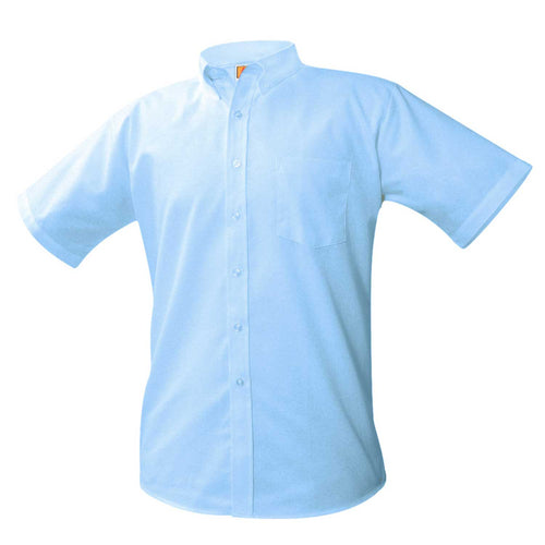 EMBLAZE ACADEMY SHORT SLEEVE OXFORD-LIGHT BLUE 5th and 6th Grades