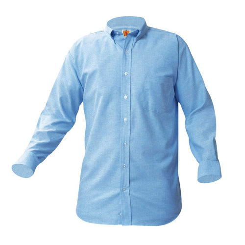 EMBLAZE ACADEMY LONG SLEEVE OXFORD-LIGHT BLUE 5th and 6th GRADE