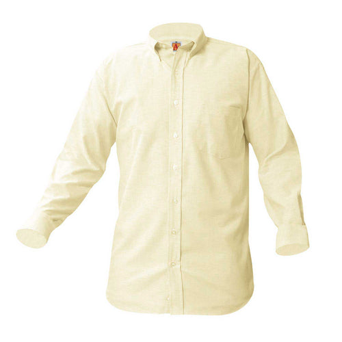 LONG SLEEVE OXFORDS-YELLOW