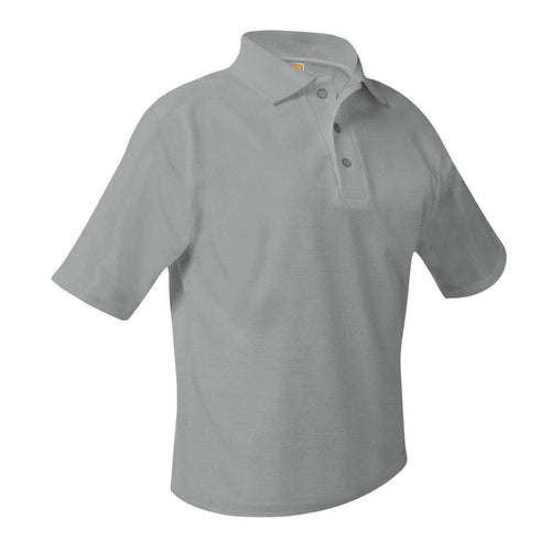 EMBLAZE SHORT SLEEVE 7th GRADE GREY POLO with logo!