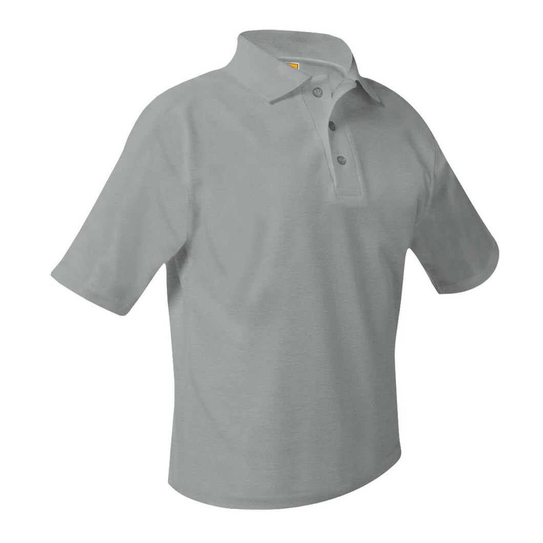 WHIN SHORT SLEEVE GREY POLO WITH LOGO