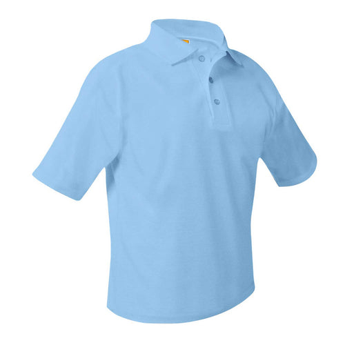 FLI SHORT SLEEVE LIGHT BLUE POLO WITH LOGO