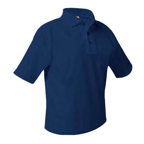 LEGACY SHORT SLEEVE NAVY PIQUE POLO