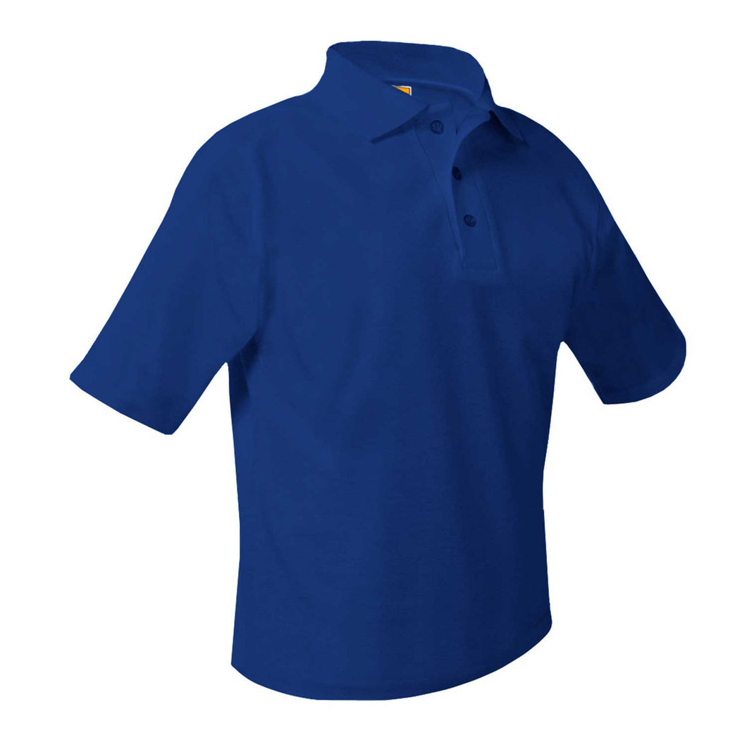 CONEY ISLAND PREP ELEMENTARY SHORT SLEEVE POLO. ROYAL BLUE WITH LOGO