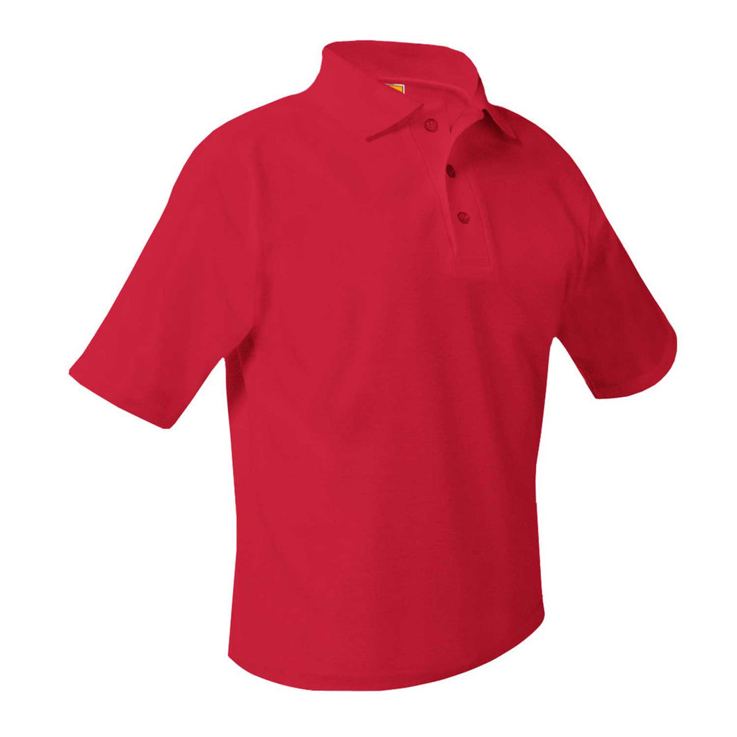 SHS RED SHORT SLEEVE POLO WITH LOGO