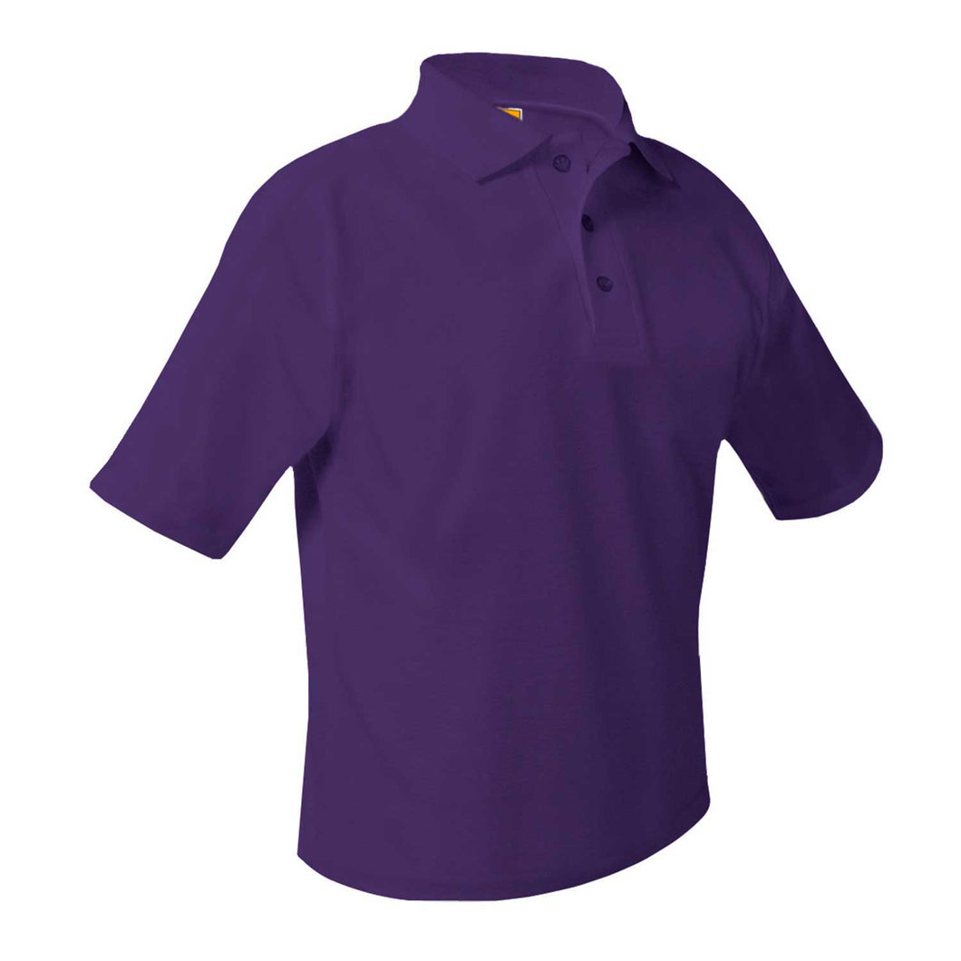PS 242 YDMA SHORT SLEEVE PURLE POLO WITH LOGO