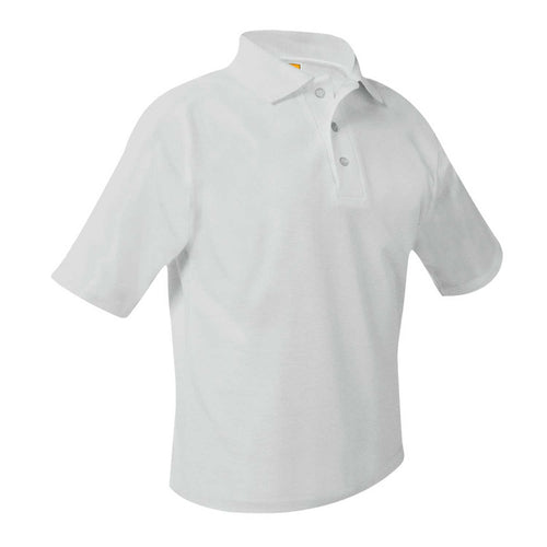 CMCCS SHORT SLEEVE WHITE POLO WITH LOGO
