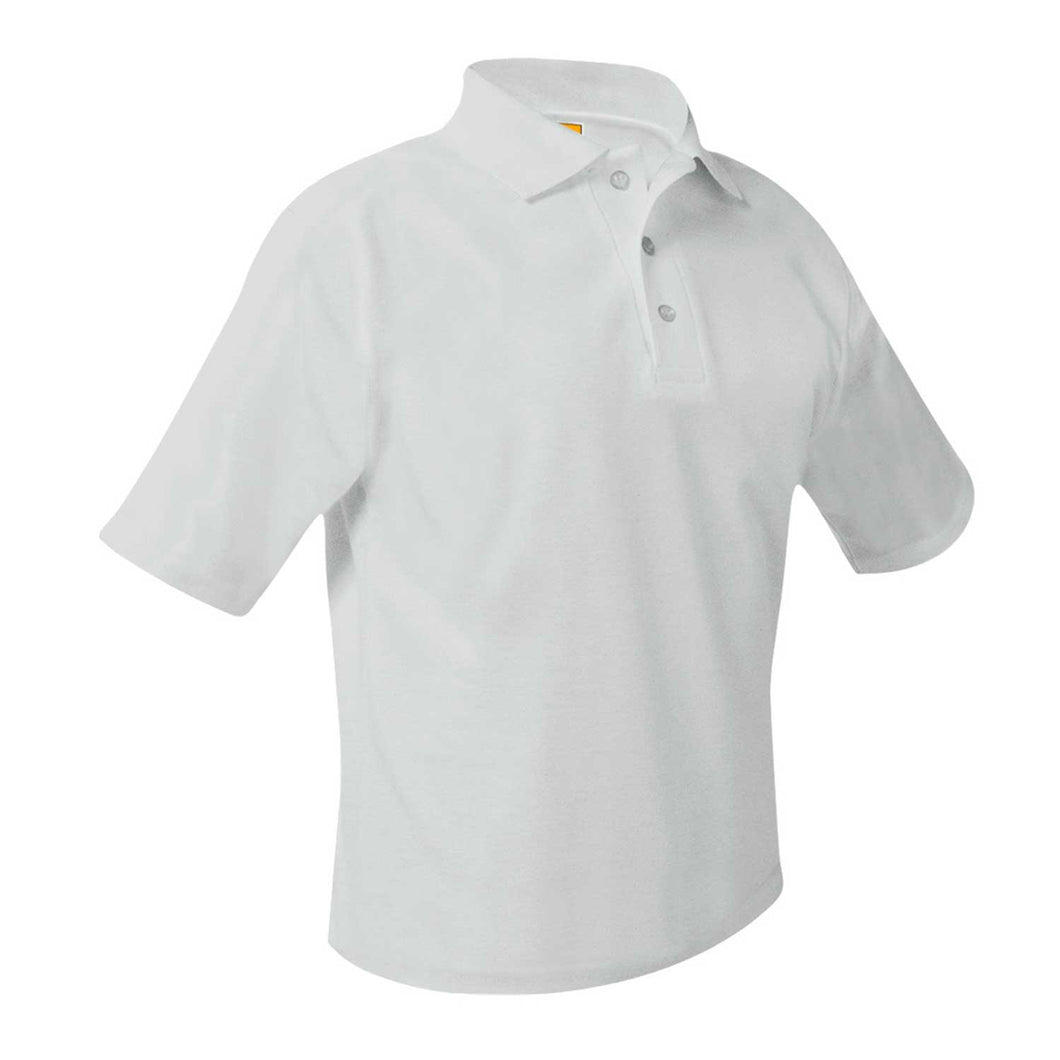 ST. CLEMENT'S SHORT SLEEVE WHITE POLO SHIRTS with your school logo