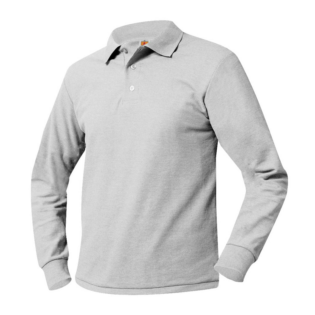 EAST HARLEM SCHOLARS MIDDLE SCHOOL LONG SLEEVE GREY POLO-2ND AVE