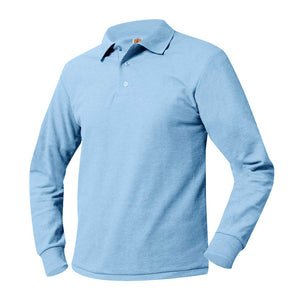 LONG SLEEVE ST. KATERI LIGHT BLUE POLO