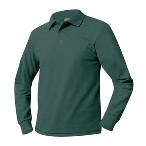 EHSA-HIGH SCHOOL LONG SLEEVE POLO WITH LOGO