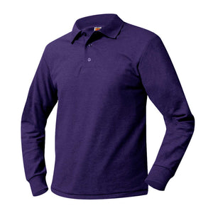 PS 242 YDMA LONG SLEEVE PURLE POLO WITH LOGO