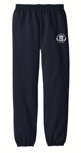 PRIMARY HALL NAVY PE PANTS with logo