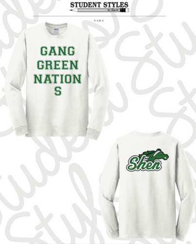 SHEN WHITE LONG SLEEVE T-SHIRT