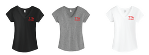 Troy Teachers Association Ladies V-Neck Tee (DT6503)