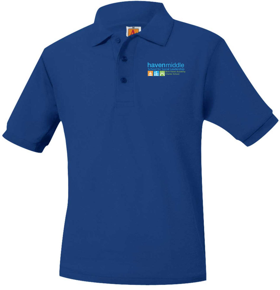 HAVEN MIDDLE SCHOOL SHORT SLEEVE PIQUE POLO SHIRTS