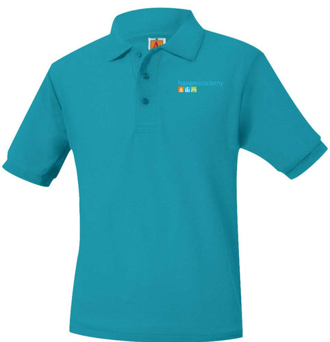 HAVEN ACADEMY SHORT SLEEVE POLO SHIRTS-ADULT SIZES