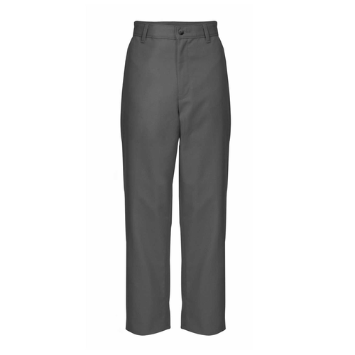 FLAT FRONT CHARCOAL FLANNEL PANT