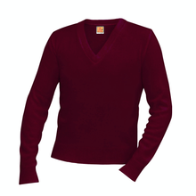 Load image into Gallery viewer, NDBG WINE V-NECK PULLOVER SWEATER- FINAL SALE