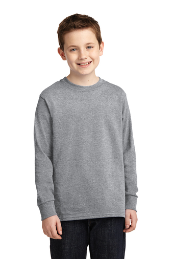 ST. JUDE'S GREY PE LONG SLEEVE T-SHIRTS