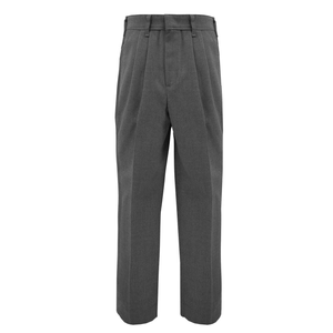 PLEATED CHARCOAL FLANNEL PANT