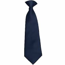 SCHOOL TIES-SOLID NAVY