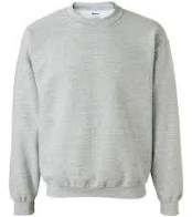 GREY PE CREWNECK SWEATSHIRT