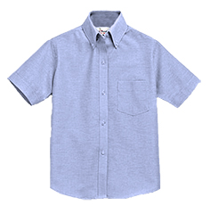 BLUE  SHORT SLEEVE OXFORD