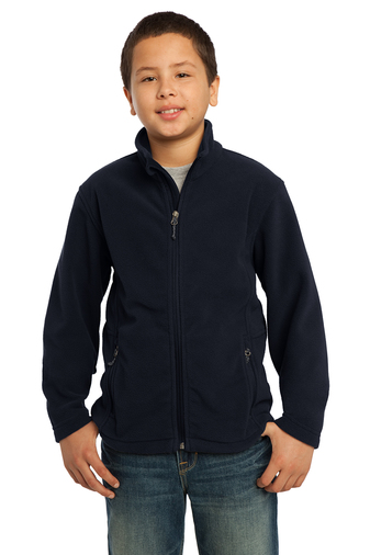 NAVY FULL ZIP POLAR FLEECE