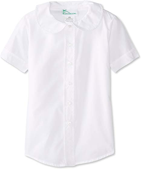 WHITE  SHORT SLEEVE PETER PAN BLOUSE