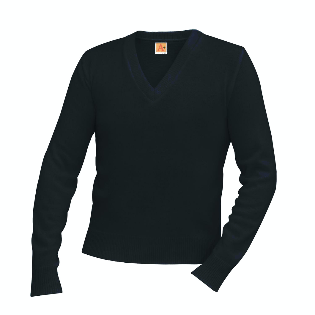 CBA BLACK NON-MILITARY V-NECK PULLOVER SWEATER