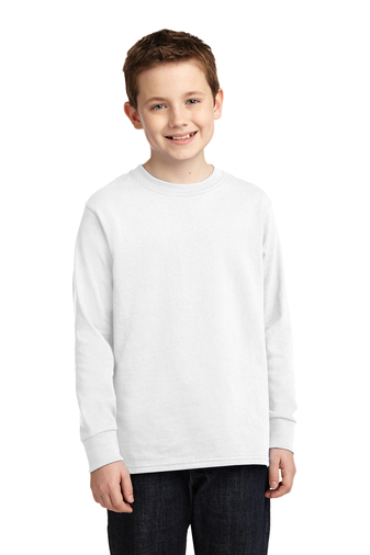 WHITE PE LONG SLEEVE T-SHIRTS