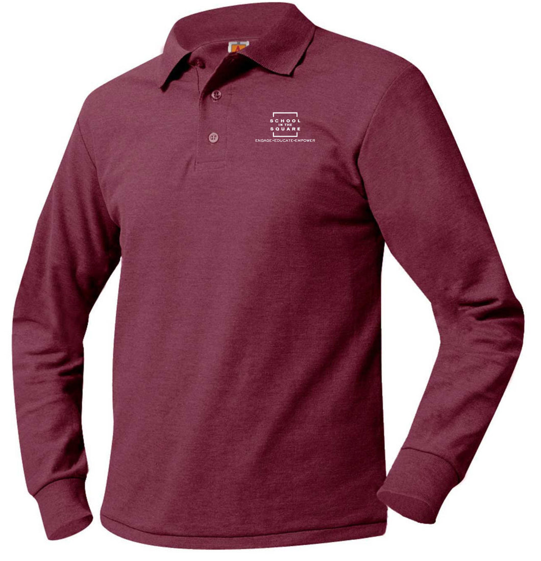 SCHOOL IN THE SQUARE -MIDDLE SCHOOL LONG SLEEVE POLO