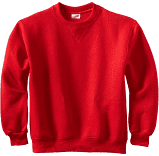 SHS RED PE CREWNECK SWEATSHIRT