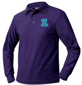 ZETA LONG SLEEVE PIQUE POLO SHIRT