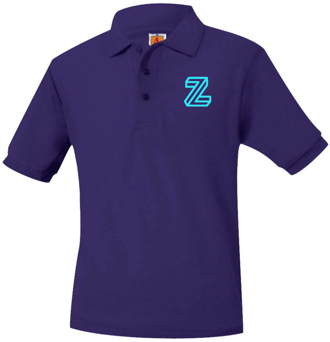 ZETA SHORT SLEEVE PIQUE POLO SHIRT