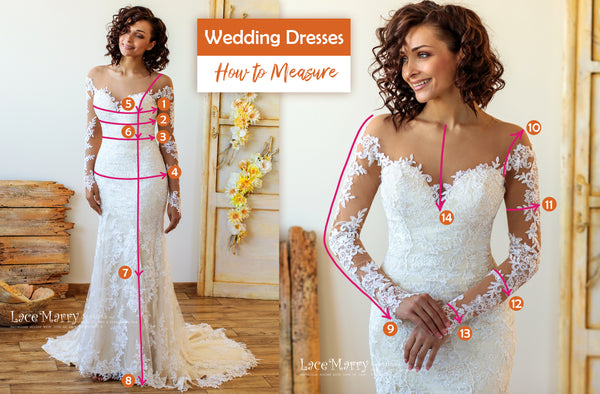 Wedding Dresses How to Measure Instructions