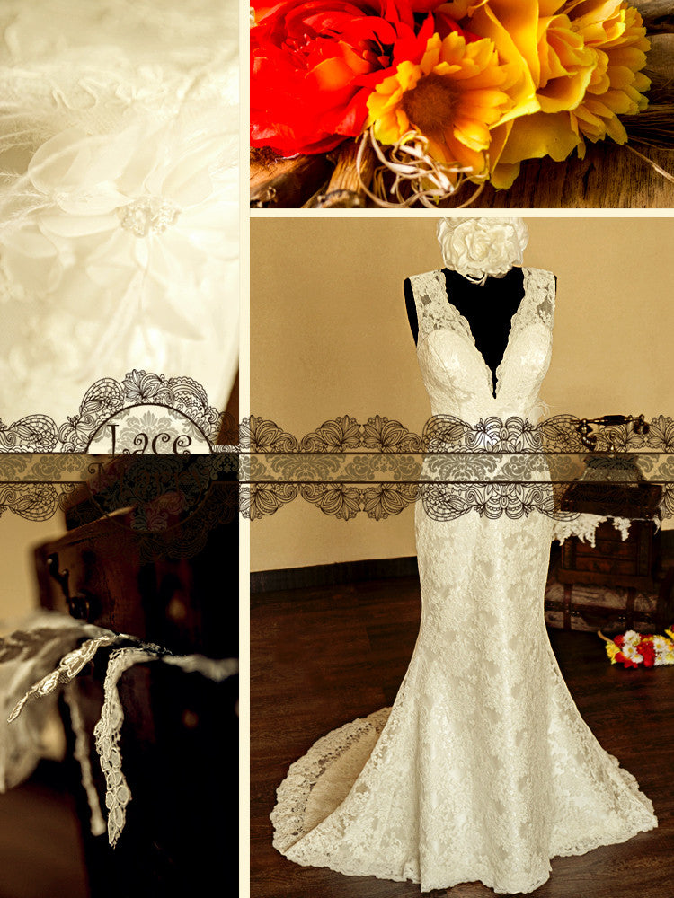 Wedding dress with detachable sash