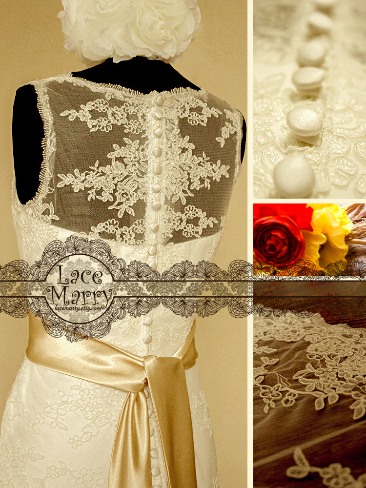 Full Lace Back Design Wedding Dress