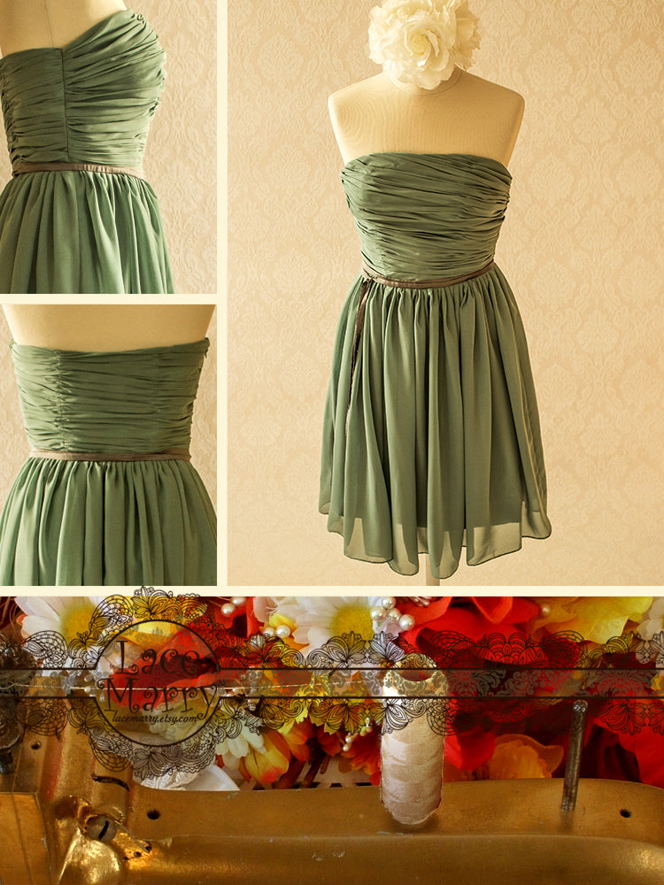 Mint Green Color Chiffon Occasional Dress