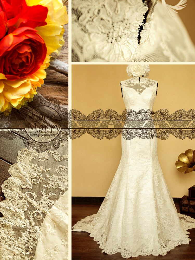 Wedding Gown features Sweetheart Neckline