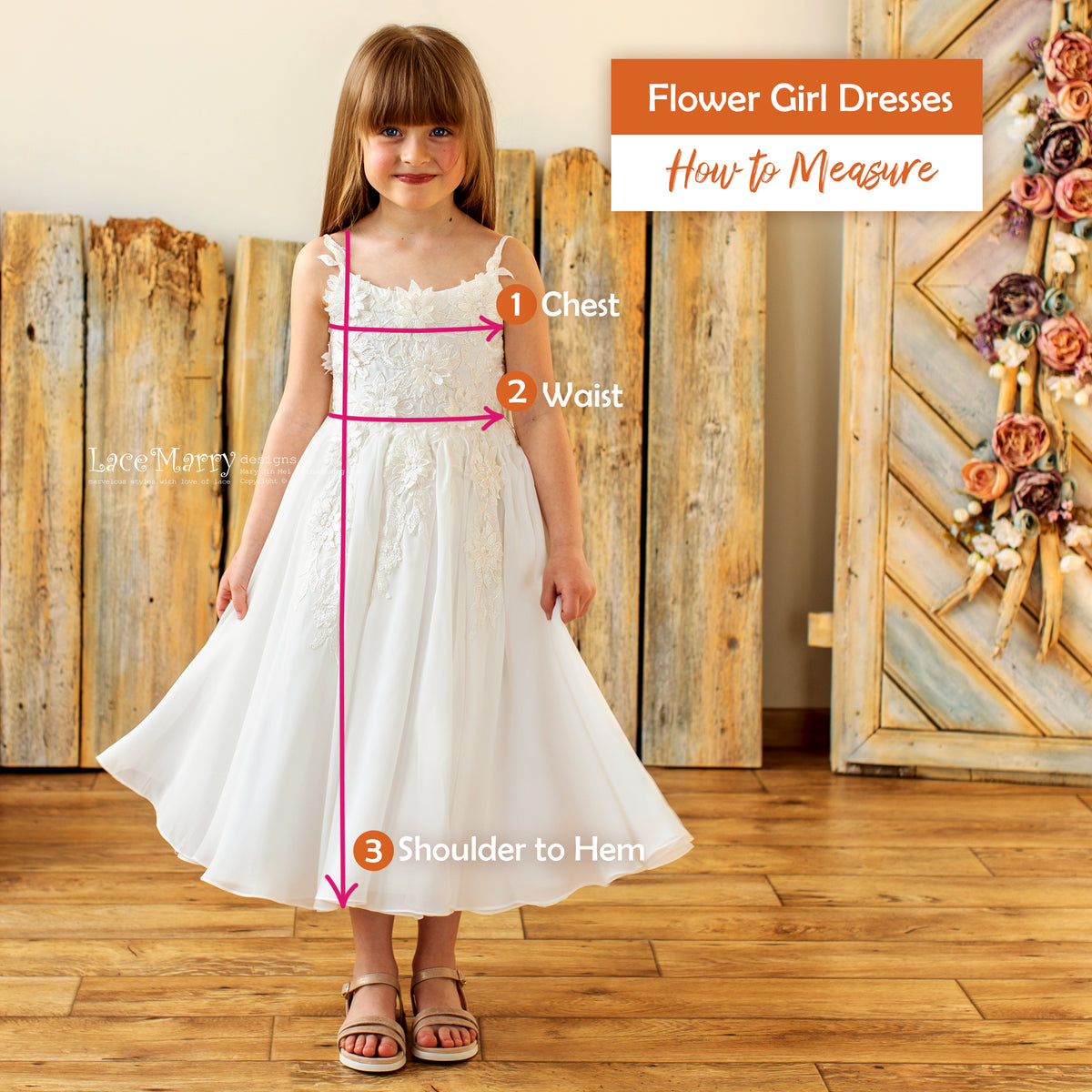 How to Measure a Flower Girl Dress