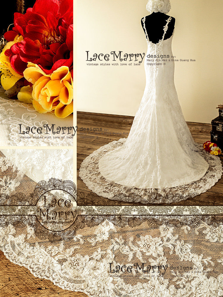 Hand Beaded Lace Wedding Dress