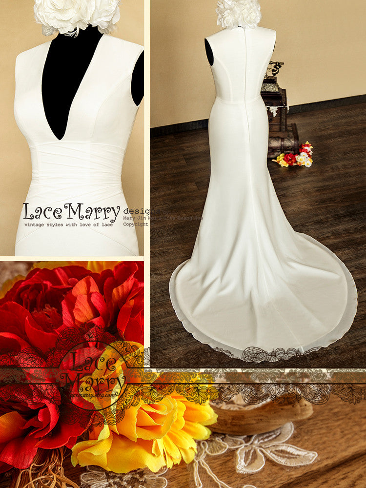 Closed Back Wedding Dress