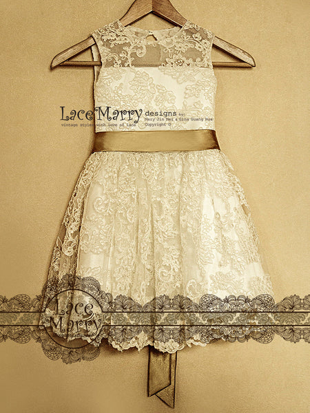 Full Lace Small Girl Dress