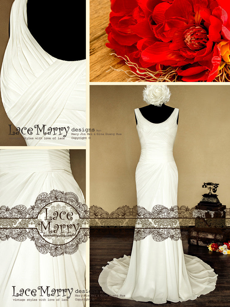 Elegant Chiffon Wedding Dress