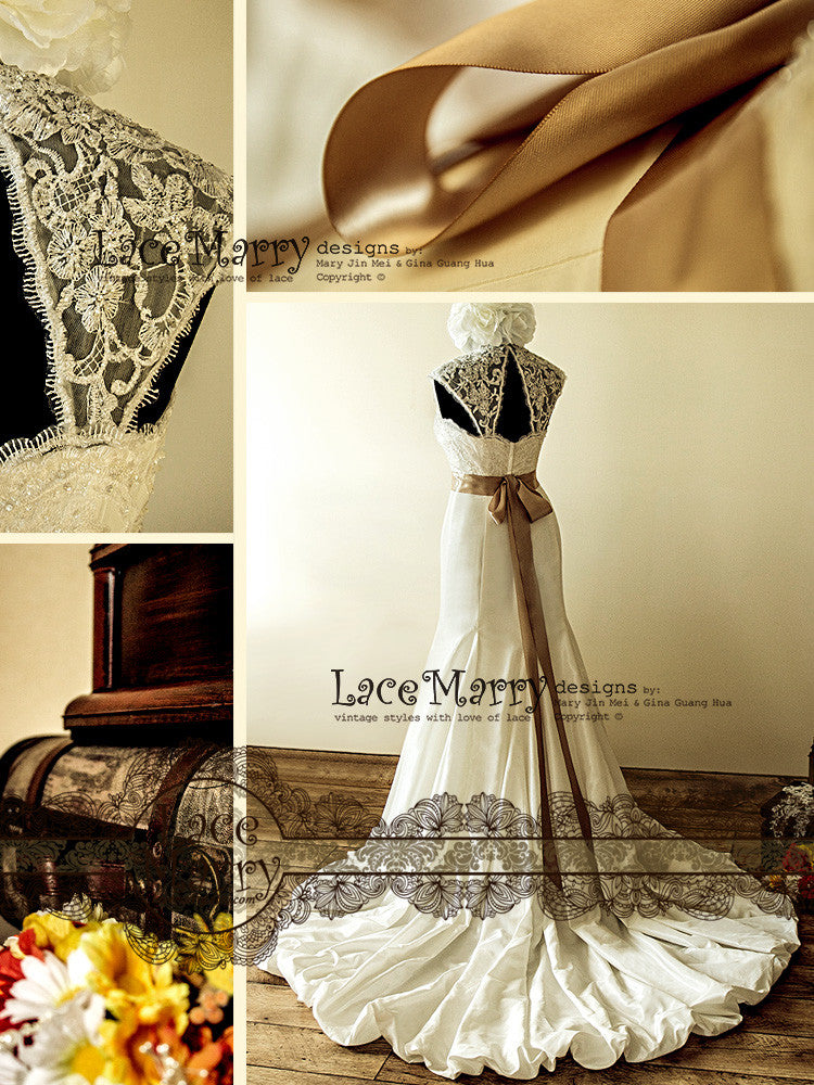Vintage Inspired Handmade Wedding Dress
